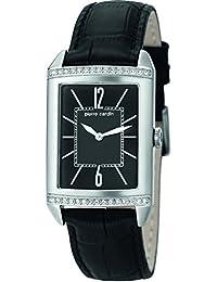 Pierre Cardin Damen-Armbanduhr Celebrite Dame Analog Quarz Leder