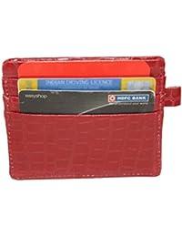 Wildland Men Red Artificial Leather Card Holder (6 Card Slots)
