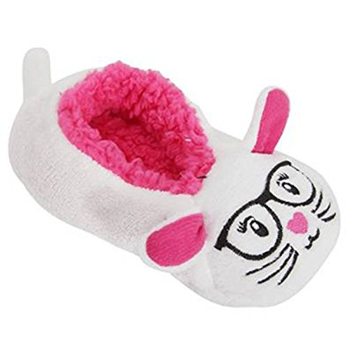 TeddyT's Chaussons moelleux thermique en forme d'animaux lapin