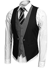 CRAVOG Mode Costume Veste Gilet Homme Slim Fit Jacket Tops D affaires Sans  Manches Pour ea860849738