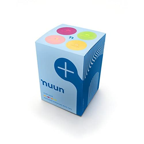 416zFWFzyVL. SS500  - Nuun Active Hydration Lemon Lime/ Citrus Fruits/ Tri Berry/ Orange Ginger Flavoured Tablets Tube Pack of 4