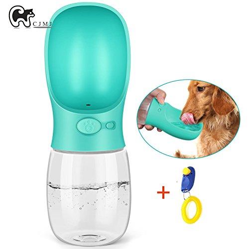 Tragbare Haustier Wasserflasche Hund Katze Trinkflasche,CJMJ Pet Travel Water Drink Flasche,350ml(Blau)