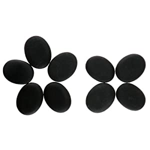 9stk 3x4 Cm Massagesteine Hot Stone Massage Basalt Steine Rock Wrmetherapie Behandlung Spa Entspannen Geltes Massagegert