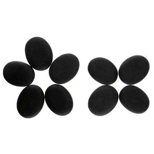 9stk. 3x4 cm Massagesteine Hot Stone Massage Basalt Steine Rock Wärmetherapie Behandlung SPA Entspannen Geöltes Massagegerät