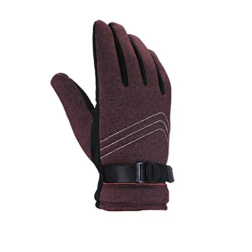 LOUMVE Männer Winterhandschuhe Warme Winddicht Anti Rutsch Handschuhe Kaltes Wetter Handschuhe Liner Coffee Freie ()