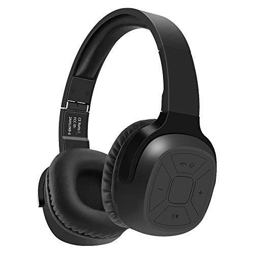 Bluetooth Kopfhörer New Bee 70-Stunden-Spielzeit kabelloser Kopfhörer mit Mikrofon Siri Sprachsteuerung Hi-Fi Stereo Tiefbass für die Reise Arbeit TV Computer iPhone (B)