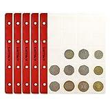 PELLER'S 10 Feuilles pour Collection de Pièces de Monnaie, 35mm x 40mm, pour Classeur M. 20 Pochettes pour Monnaies Idéal pour Les Pièces en Euros et Autres jusqu'à 31 mm de Diamètre...
