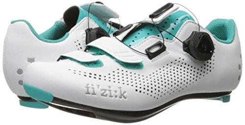 Fizik R4B Rennradschuhe Damen weiß/emerald grün 2017 Mountainbike-Schuhe weiß/grün