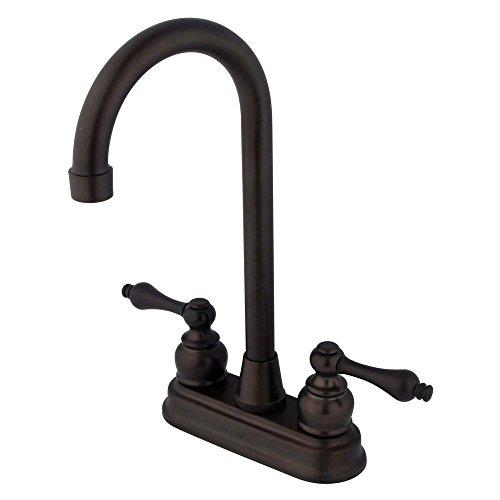 Kingston Brass KB495AL Victorian High-Arch Bar Faucet, 4-3/4-Inch, Oil Rubbed Bronze by Kingston Brass