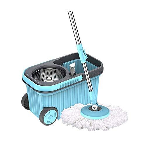 TYUIO Sistema de Limpieza para el hogar Hurricane Spin Mop, trapeador para Pisos con Limpiador para Pisos de Madera Dura...