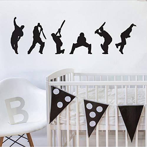 er Silhouette Wand Flecken Wand Tattoo Wandkunst Wandgemälde Für Teenager Schlafzimmer Wohnkultur 141X42 cm ()