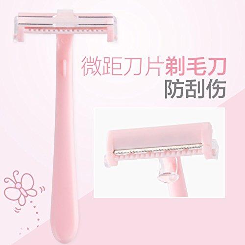 ung Makro Männer und Frauen Borsten Rasierklingen Haarschaber Werkzeuge Beine Underarm Private Teile Rasiermesser Haarentfernung Gerät ()