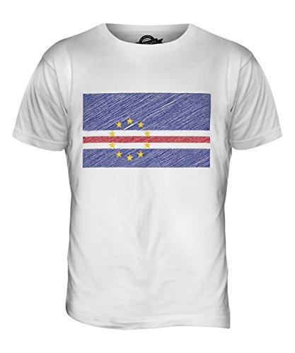 CandyMix Kap Verde Kritzelte Flagge Herren T Shirt Weiß