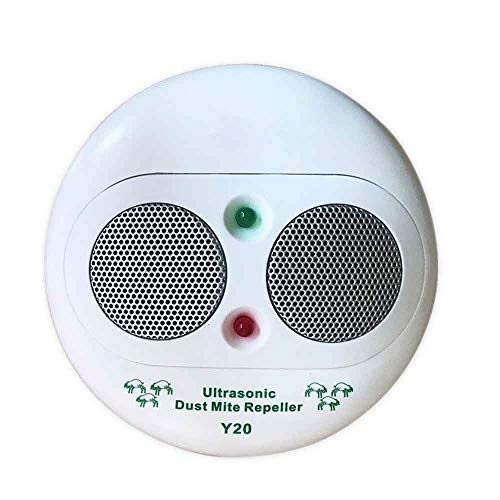 QHQS 360°Ultraschall Milbencontroller Haushalt Anti-Milben Intelligenter Killer Doppelhorn Doppelte Schallwelle