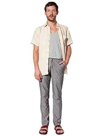 American Apparel Chambray Welt Pocket Pant - Brown / 25