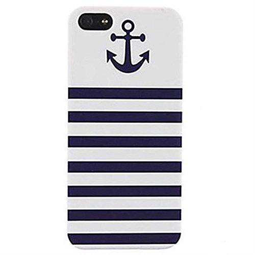 Inonler Anchor Marine blaue Streifen und Farben hülle(iPhone 6S hülle, iPhone 6 hülle (4,7