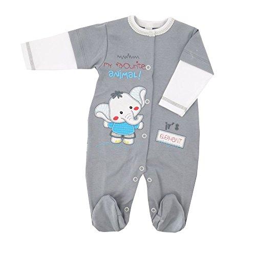Elefant 3-4 Jahre, Elefant Grau Schlafsack baby Ganzjahres Baumwolle Junge M/ädchen mit Innenfutter Neugeborener Schlafanzug