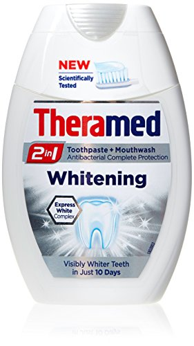 Theramed Whitening 2 in 1 Fluorid Zahnpasta & Antibakterielles Mundwasser 75ml