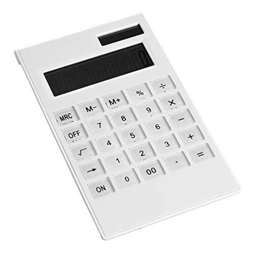 Taschenrechner, Elektrische Elegante Ultradünne Platte Crystal Button 12-Stellige Tischrechner, mit Akku für Basic Office (Kunststoff-platten Bulk)