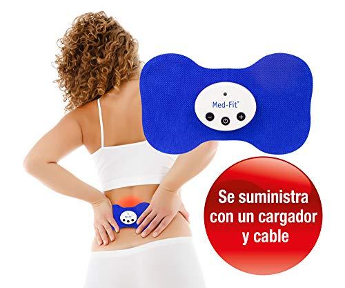 Med-Fit Mini TENS estimulador muscular. Recargable y inalámbrico -Trata el dolor de la espalda, ciática...