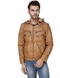 Derbenny TAN Leather Slim Fit designer Jacket for Man