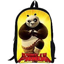 Kung Fu Panda Mochila de Dibujos Animados Casual Mochilas Infantiles Impresión 3D Mochilas Escolares