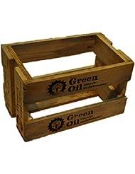 Grün Öl 5Liter wieder Holz Box (für 2x 5Liter)