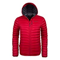 Mountain Warehouse Henry Mens Down Padded Jacket - Lightweight Overcoat, Showerproof Rain Coat, 2 Front Pockets & A Chest Pocket - Great for Cold Weather