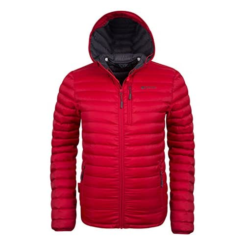 416zO2qUEdL. SS500  - Mountain Warehouse Henry Mens Down Padded Autumn Jacket - Lightweight Overcoat, Showerproof Rain Coat, 2 Front Pockets & A Chest Pocket - Great for Cold Weather