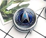 Star Trek Original Series Collar de alambre francés, diseño de símbolo de comando, caja de píldoras/pastillero