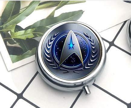 Star Trek Original Series Command Symbol Französischer Draht Halskette Pillendose Pillendose Literary Jewelry (Französisch Draht)