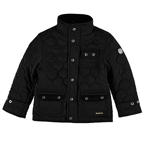 Firetrap Kids Kingdom Jacket Infant Boys Adjustable Cuffs Mock Neck Full Zip Top Black 5-6 Yrs
