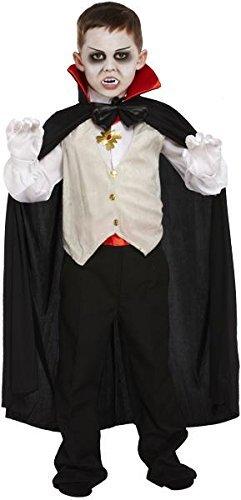 Henbrandt Kinder Halloween Kostüm Klassisches Vampir Outfit Größen 4-12 Jahre - 7-9 Jahre
