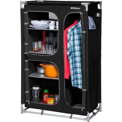 Küchenbox Berger Campingschrank L schwarz/grau Aluminiumgestell B 89 x H 140 x T 47,5 cm