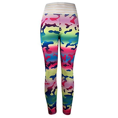 9408abe9c0 BaZhaHei Mujer Pantalones Largos Deportivos Patrón de árbol Leggings para  Running