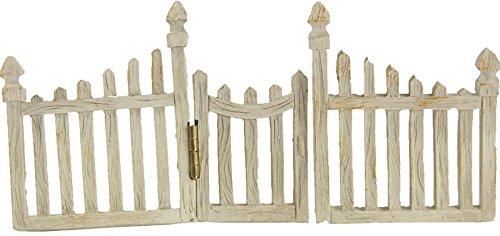 Preisvergleich Produktbild Miniatur Garten, Zaun mit Tür klein Gartentor Set, steckbar Länge ca. 15cm