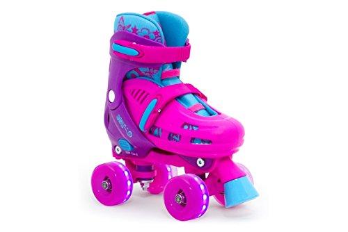 SFR Hurricane Quad verstellbare Rollschuhe LED-Rollen Mädchen pink pink, 25.5-29
