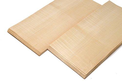 4-5 Furniere Holzarten wie z.B. Eiche, Buche, Nussbaum, Mahagoni. Furnier geeignet für Modellbau, Ausbesserungsarbeiten, Fotografie, Geschenk, Restauration, DIY, basteln, Intarsien, Schmuck (Birke)
