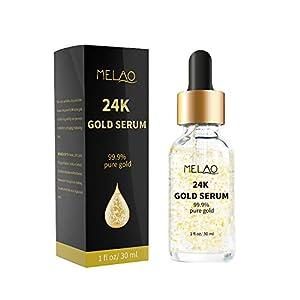 24K Gold Hyaluronic Acid Serum, COMPATH Anti-aging Anti Wrinkle Hyaluronic Serum Promote Metabolism, Whitening & Moisturizing for Women Face Skin Care - 1 fl oz/30ml