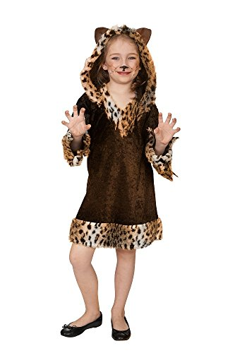 Andrea Moden Leopard Wildkatze Kostüm für Mädchen Gr. 128 - Safari Wildnis Tierpark Verkleidung (Wildkatze Leopard Kostüm)