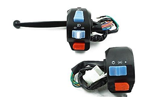 WUZHOUEUR Motorrad Roller 7/8 Blinker Lichtschalter Horn Fernlicht Lenkerschalter (Farbe : Single disc Brake seat) -