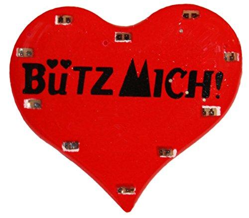 Herz-Blinky-Bütz Mich für Karneval oder Fasching