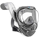 Masque de plongée intégral Seaview 180° V2 avec système de respiration avancé FLOWTECH : pour une expérience de plongée naturelle et en toute sécurité - ensemble de plongée panoramique