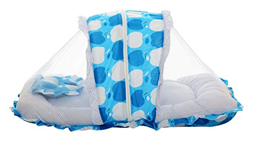 VParents Jumbo Extra Large Baby Bedding Set with Mosquito net and Pillow (0-20 Months) (Blue) Image 2