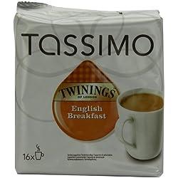 Tassimo Twinings English Breakfast Tee, Schwarzer Tee, Schwarztee, Kapsel, 16 T-Discs