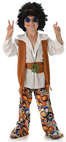 Frieden Hippie Jungen Sechzigerjahre 70s Kinder Sechziger Childs Hippie-Kostüm Neu (XL 11 -13 ()