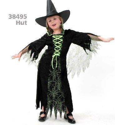 Zubehör Zauberin Kostüm - Hexe Grusella Kinder Faschin Kostüm Gr 116