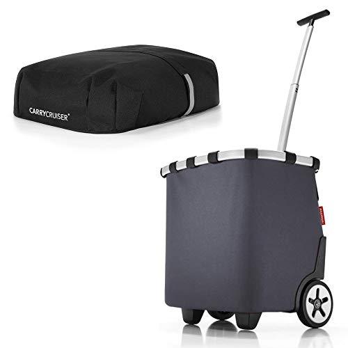 reisenthel Angebot Einkaufstrolley carrycruiser Plus gratis Cover Abdeckung und Sichtschutz! (Graphite)
