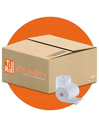1 caja 20 rollos papel térmico 57 x 40 máquinas