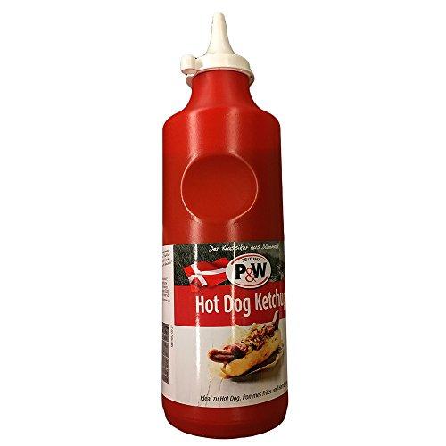 P&W Dänischer Hot Dog Ketchup (900g Flasche)